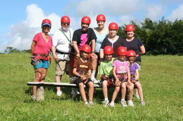Helmet up for your ziplining tour!