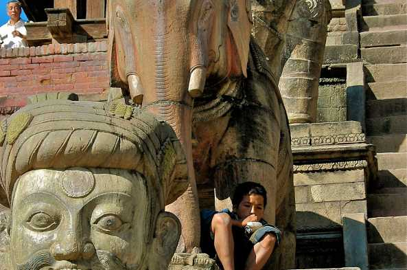 Climb the steps of one of Bhaktapur's ancient temples