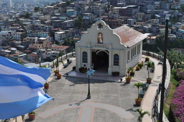 Climb to atmospheric Capilla Santa Ana Church