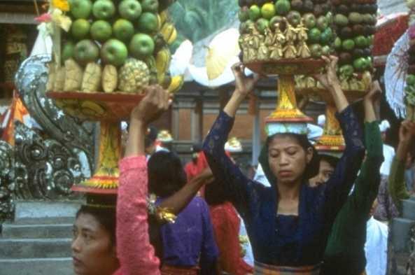 Balinese women going to festival