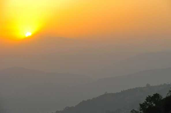 Kathmandu sunrise.