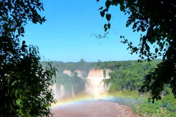 Iguazú Falls is made up of dozens of individual waterfalls