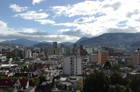 View of Quito and surrounding mountains