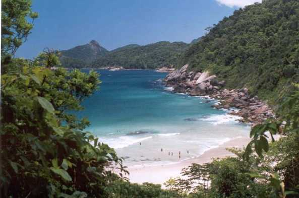 One of the beautiful sites in Ilha Grande
