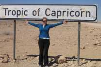 Stop for a picture at the Tropic of Capricorn