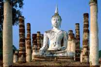 Explore the ancient ruins at Sukhothai
